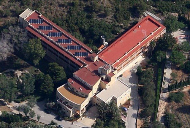 La residencia de ancianos de Santa Llúcia, en una imagen aérea.
