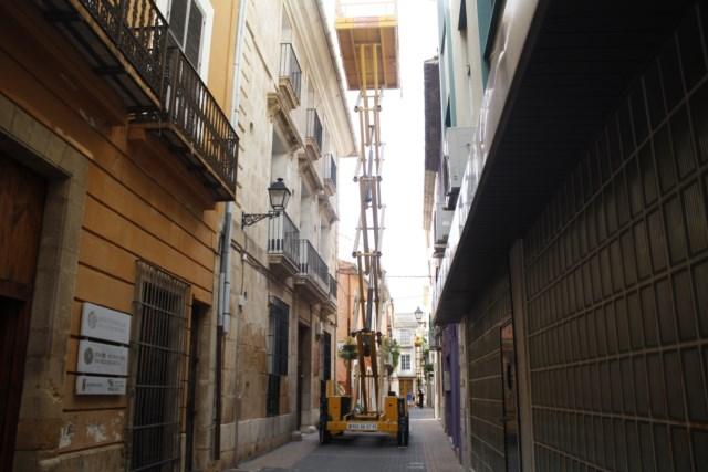 Reparan de emergencia el techo de la casa de la Marquesa de Valero de Palma