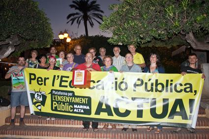 Protesta en defensa de la educación pública y contra la ley Wert