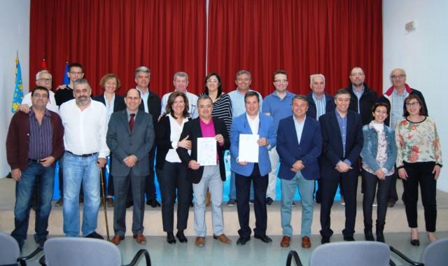 Los alcaldes participantes en la reunión de este viernes.