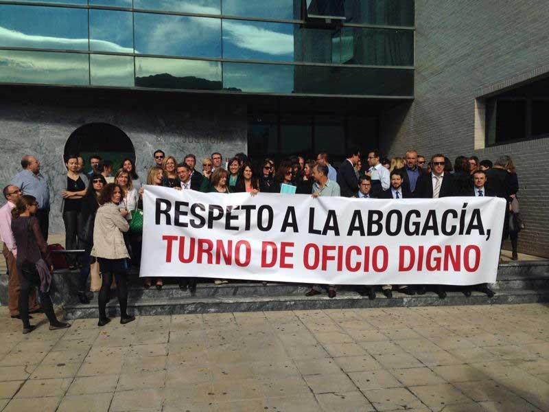 La huelga de los abogados del turno de oficio