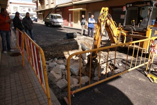Obras hídricas en la calle Mallorca.