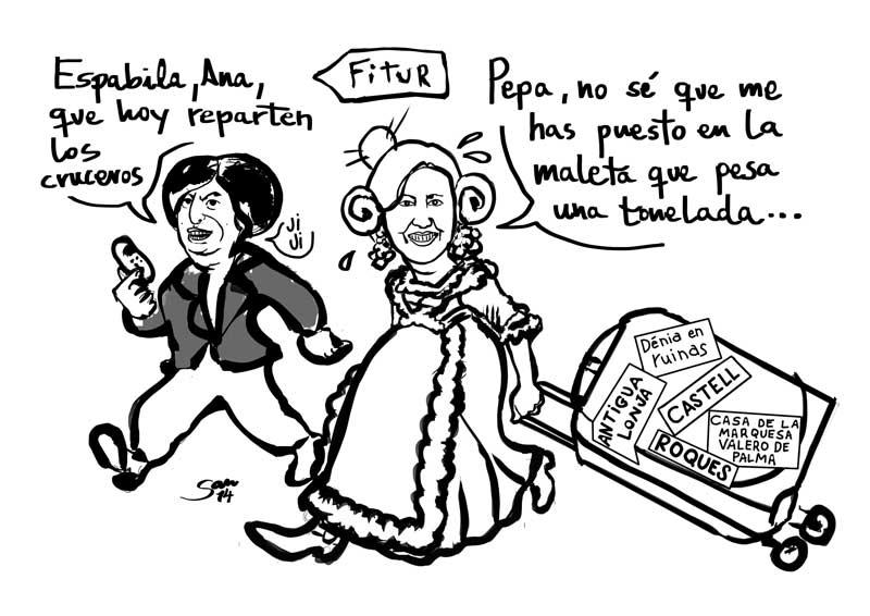 """Nueva Viñeta de San: """"Dénia va a Fitur"""""""