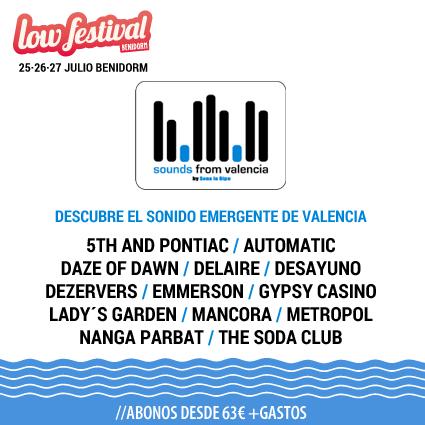 Trece bandas se incorporan al nuevo escenario Sounds from Valencia del Low Festival