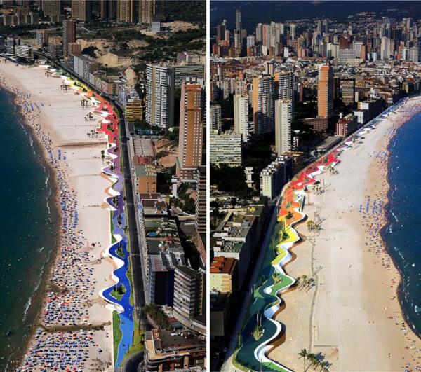 La playa de Benidorm, el Waikiki o la Copacabana del Mediterráneo