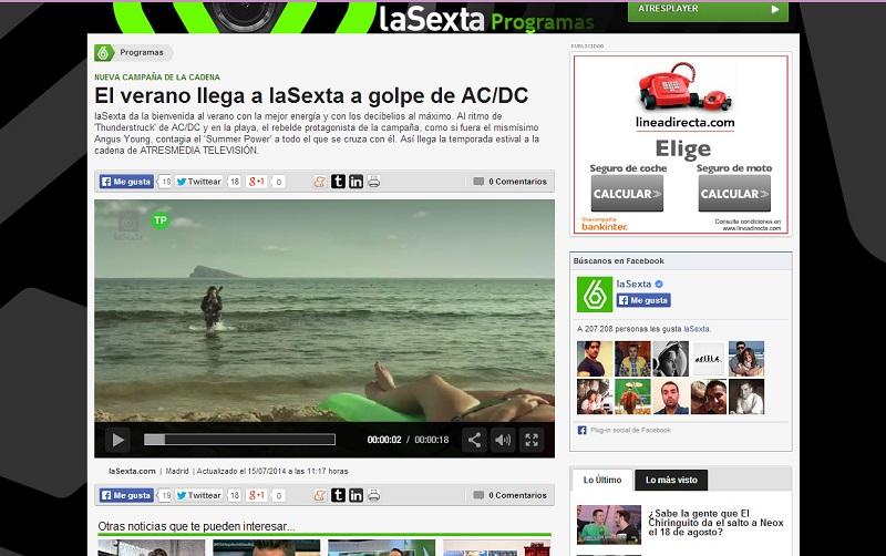 Benidorm y AC/DC, imagen y sonido del verano de La Sexta