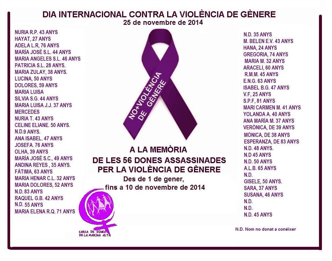 Manifest 25 de novembre contra la violència de gènere