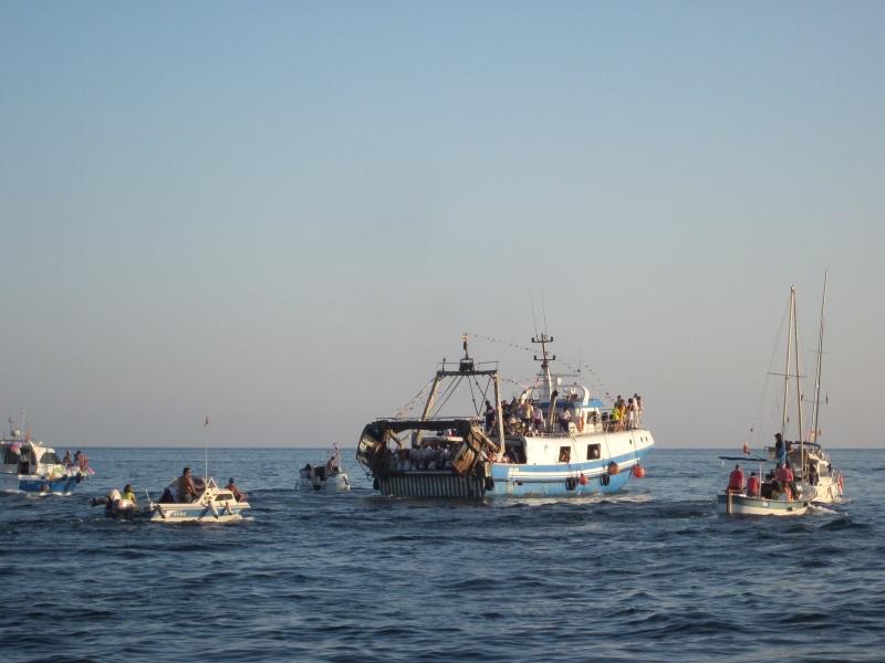 El fuerte temporal deja en tierra a la mayor parte de la flota pesquera de La Vila