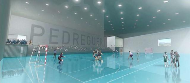 Recreació de la pista interior del futur pavelló de Pedreguer.