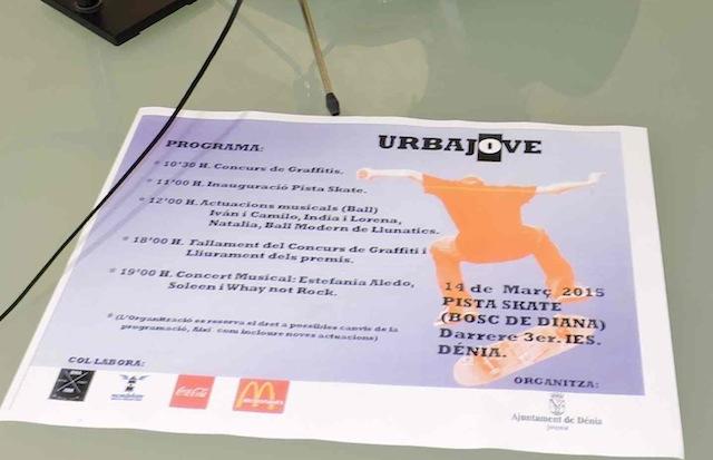 Dénia convoca un concurso para decorar con grafitis su nueva pista de skate