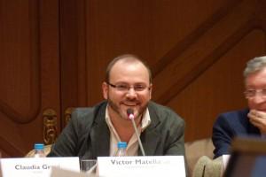 Victor Matellano, director de cine y coordinador del acto