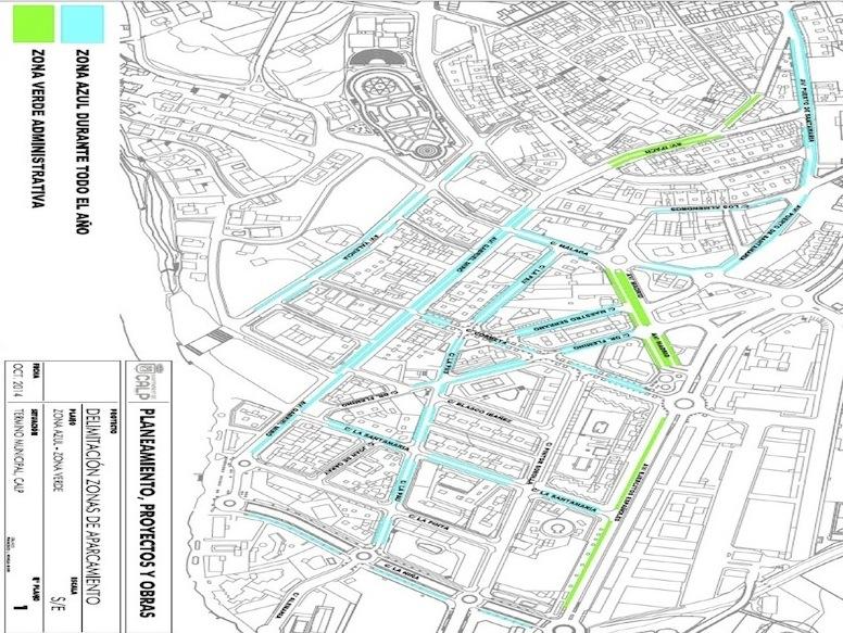 Zona Azul Sevilla Mapa.La Nueva Zona Azul De Calp Podria Costar Un 66 Mas Que En