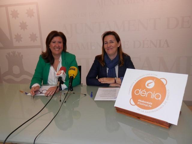 Una gamba en una paella para 'saborear Dénia', el logo de la ciudad para obtener el reconocimiento de la Unesco