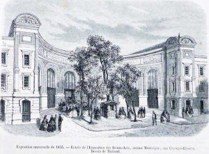 Entrada Exposición Palacio de Industria 1855