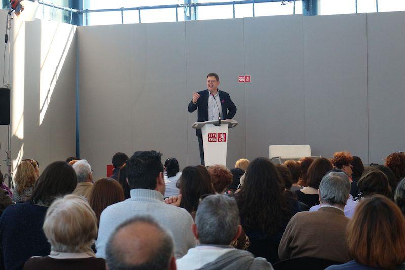 Ximo Puig anuncia en Altea que si preside la Generalitat nombrará un Consell paritario
