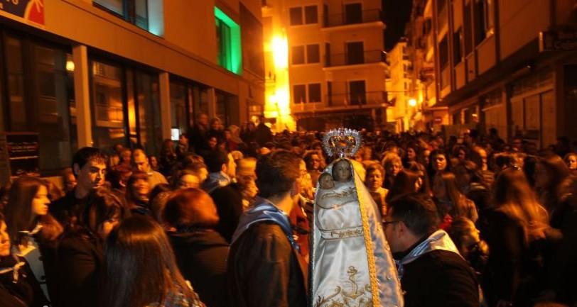 Las tres bandas de música de Benidorm acompañarán a la Virgen en el traslado a la misa de campaña