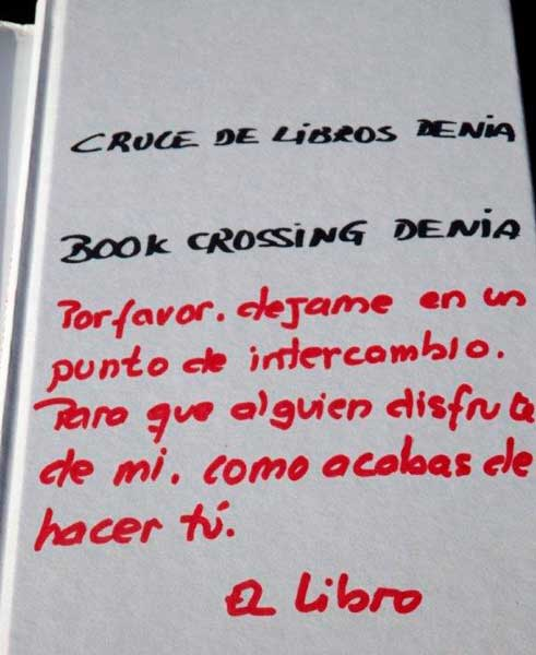 Bookcrossing Dénia