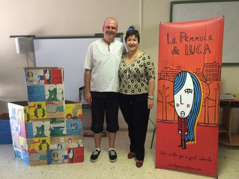 El actor Paco Bertomeu y la concejala Pepa Sivera