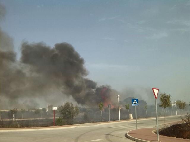 Otro incendio arrasa varias parcelas en Xàbia