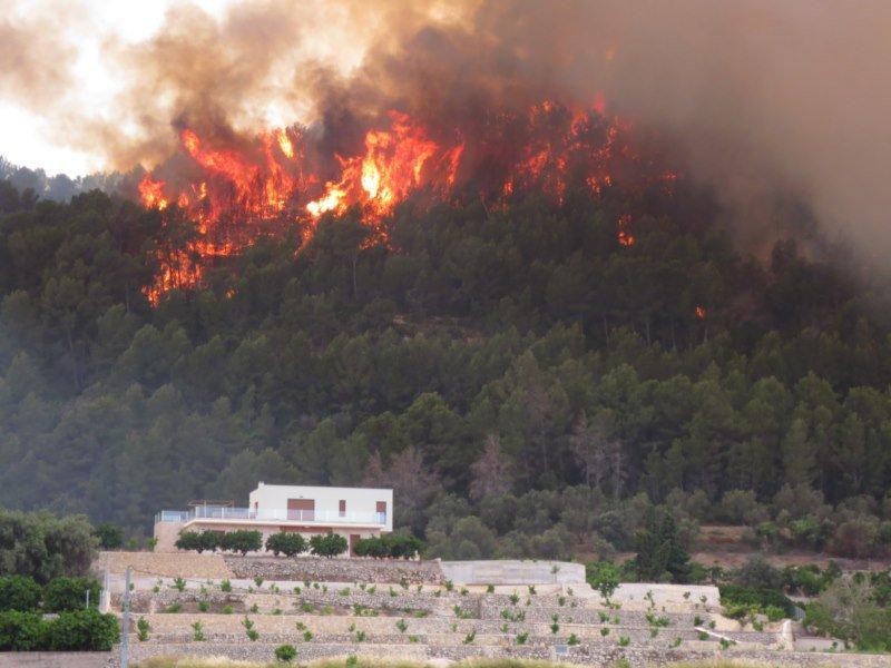 Extinguido el incendio de la Vall d'Ebo y Pego