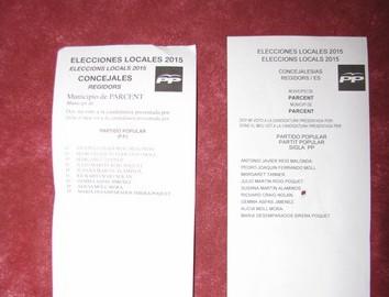 Detectan que el 81% de los votos del PP en Parcent pueden ser nulos al ser falsas las papeletas