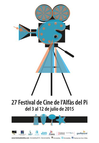 Cartel del Festival de Cine de L'Alfàs 2015