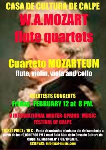Concierto de Mozarteum Quartet. V Festival de Música de Invierno -Calp- @ Saló Blau de la Casa de Cultura