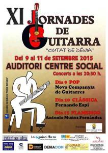 """Concierto de la Nova Companya de Guitarres de Dénia: """"Pop"""". XI Jornadas de Guitarra """"Ciutat de Dénia""""-Dénia- @ Auditori del Centre Social"""