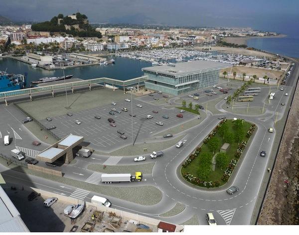 Los empresarios de Dénia vuelven a reivindicar la estación de autobuses en Baleària