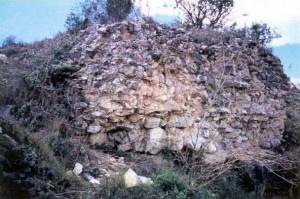 Los restos de la Torre de la Cruz.