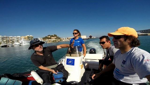 Los investigadores del proyecto LIVE Cubomed, durante una de las jornadas de estudio en Dénia.