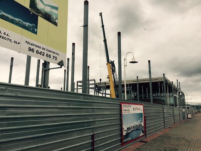 Cuenta atrás para el último centro comercial que «cerrará» el perfil de la escollera norte de Dénia