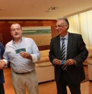 Dos de los imputados: Juan Ramón Martínez (izqda) y el exalcalde Agustín Navarro.