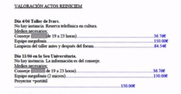 150 euros por dos micrófonos: el PP le cobra a Reiniciem Benissa por usar material municipal