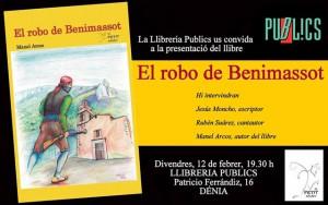 """Presentació del llibre """"El robatori de Benimassot"""" de Manuel Arcos -Dénia- @ Llibreria Públics"""