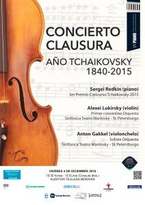 Concierto de Sergei Redkin, piano, Anton Gakkel, violonchelo, y Alexei Lukirsky, violín -Teulada- @ Auditori de Teulada