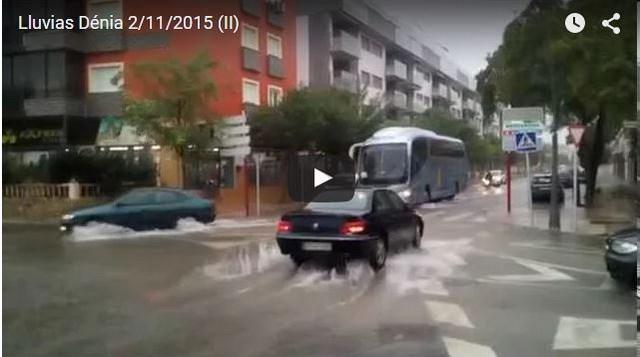[VÍDEO/GALERÍA] Así se inunda una ciudad como Dénia