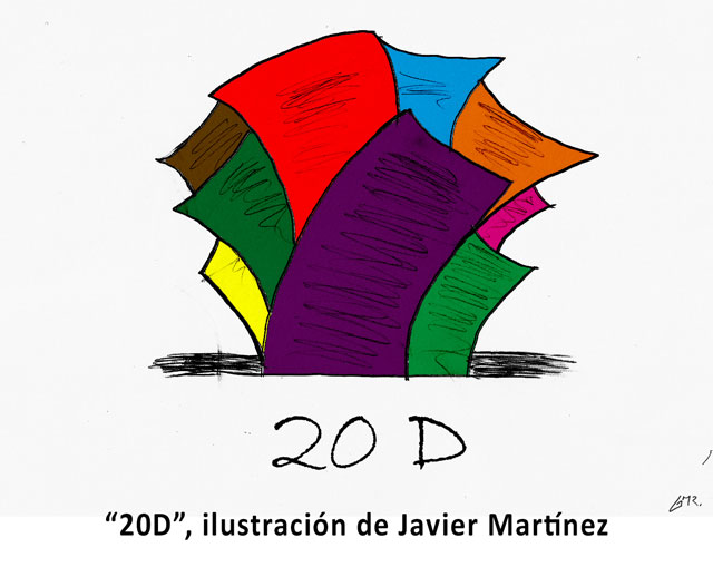 """""""20D"""", ilustración de Javier Martínez"""