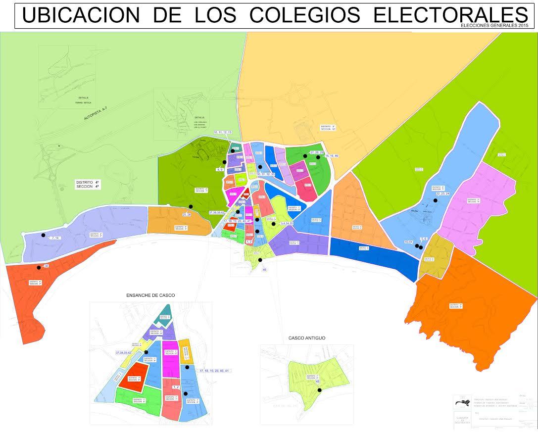 Benidorm traslada tres colegios electorales para los comicios del domingo