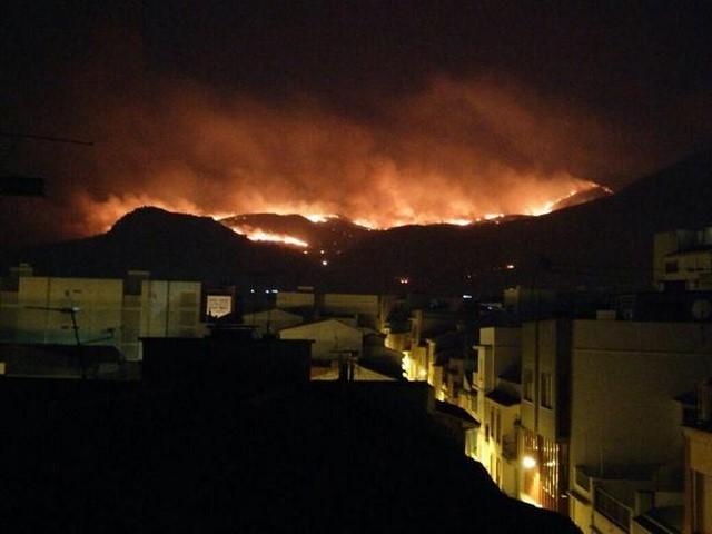 PP y Cs impiden que la Diputación se implique en regenerar el área quemada de Pego y Les Valls