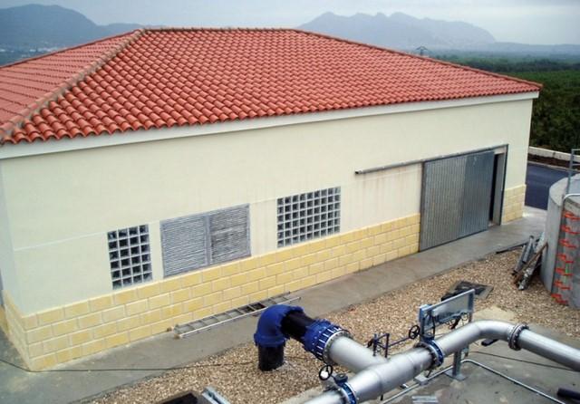 Planta de tratamiento de agua en Calp.