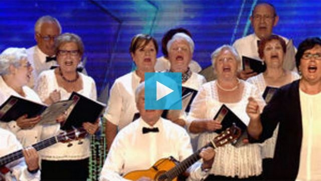 La coral del Hogar del Jubilado de Dénia triunfa en el programa Got Talent de Telecinco