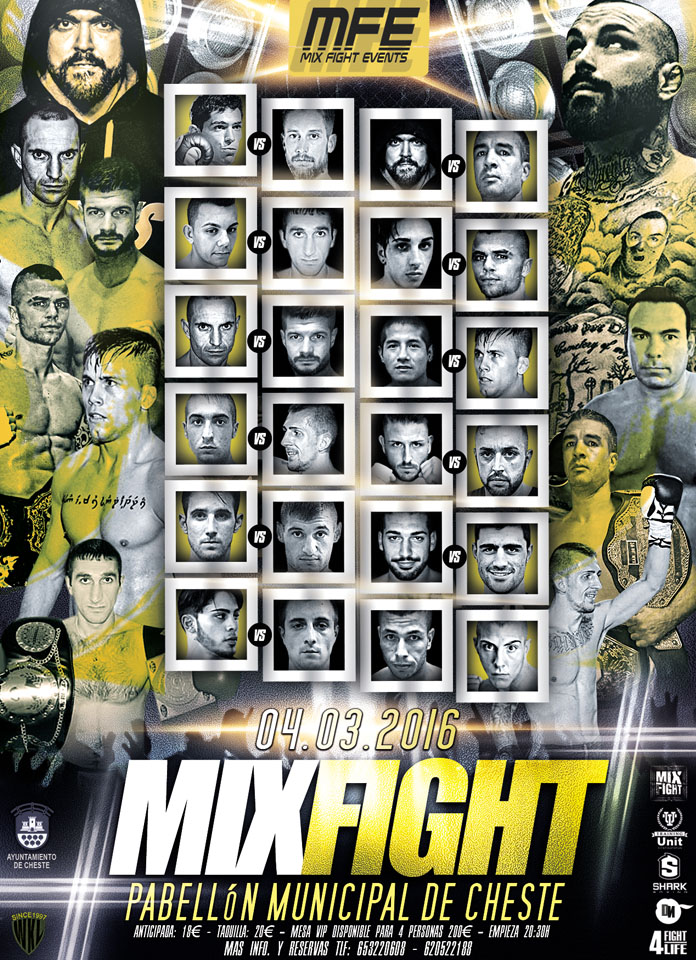 """Mix Fight Events 2016"", gran vetllada d'arts marcials"