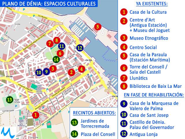 Dénia amplía su mapa cultural rehabilitando edificios históricos y huyendo de macroproyectos