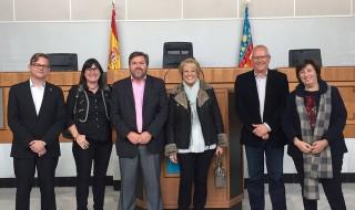 Los representantes de los partidos de Dénia, en la Diputación de Alicante.
