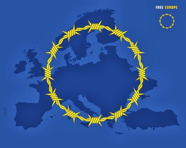 Benissa también ondea la bandera de la UE a media asta por la crisis de los refugiados