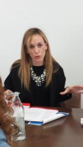 Mª José Marcos durante su intervención