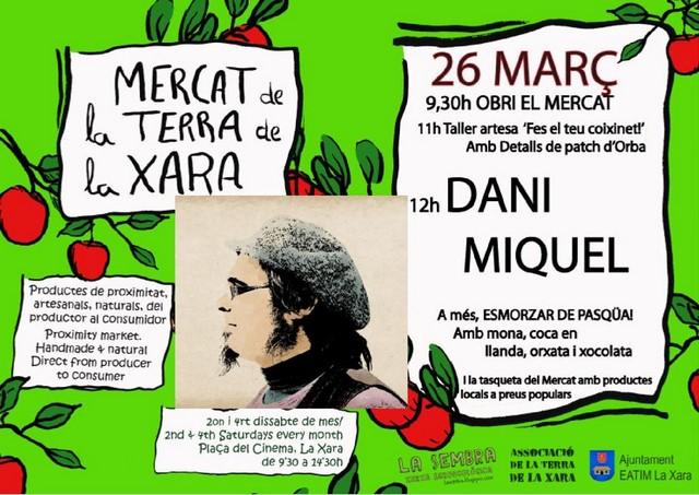 Dissabte de Pasqua complet a La Xara amb les 'Musiqueries' de Dani Miquel i la Cursa Solidària
