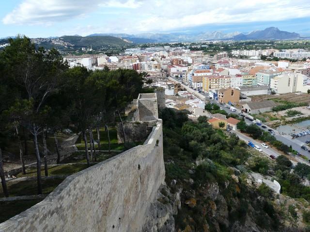 El casco urbano de Dénia, en una imagen desde el castillo.