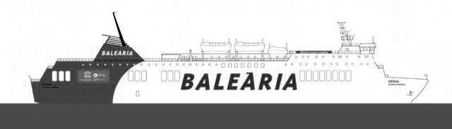 Baleària bautiza como 'Dénia Ciutat Creativa' su nuevo ferry para la ruta Barcelona-Ciutadella